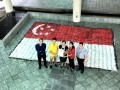 20170519 Flag made of plastic bottles@Hwa Chong Inst (4)