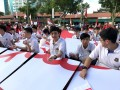 Largest human formation of radial stripes@Nanyang CCC (3)