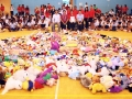Largest Heart Formation Made Of Toys