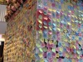 largest collage made of flower-shaped notes (12)