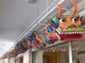 dragon scuplture made of paper plates (4)
