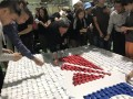 largest logo made of origami hearts@dormakaba (9)