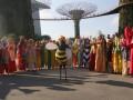 Largest Mass Performance Of Stilt Walkers