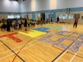 largest text formation made of paper airplanes (15)