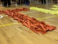 largest text formation made of paper airplanes (7)