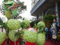 Longest Dragon Dance Made Of Pineapple Lanterns