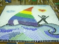Largest Mosaic Made By Cups Of Coloured Water