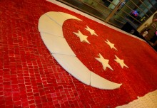 Largest Singapore Flag Made Of Cookies