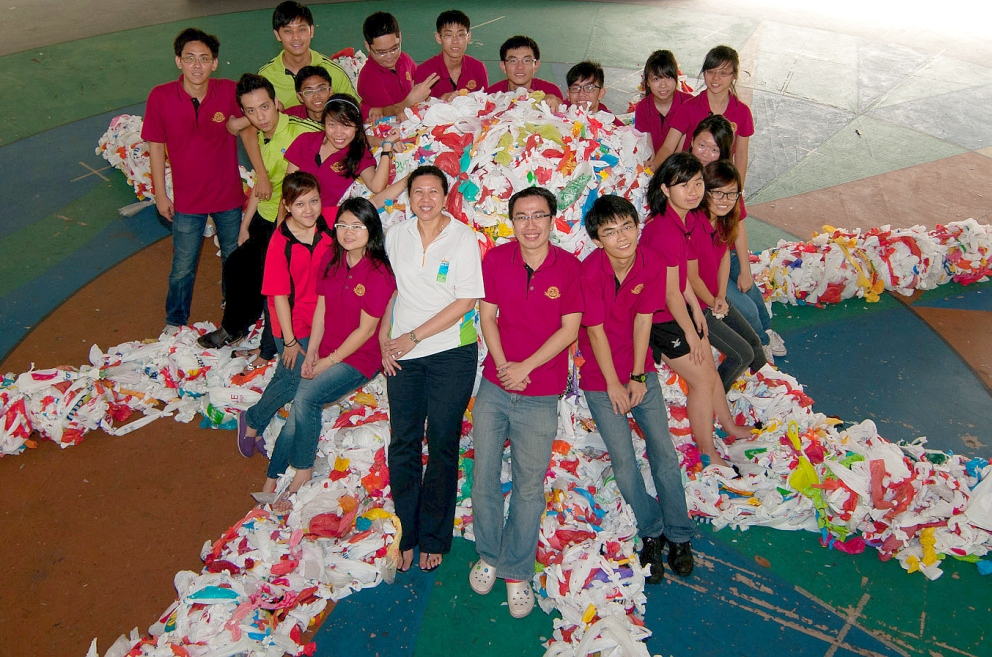 Largest Plastic Bag Sculpture