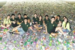World's Longest Chain Of Plastic Bottles
