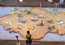 Largest Singapore Map Made Of Drink Cartons