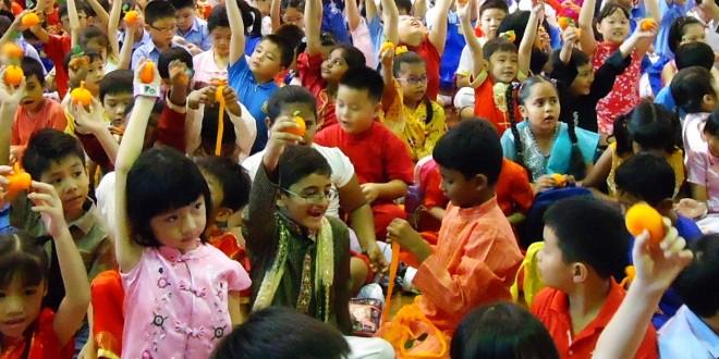 Most Number Of People Making Orange Handicrafts Together