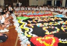 Largest Display Of Paper Lilies