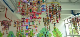 Largest Display Of Lanterns Made From Cardboard Tubes