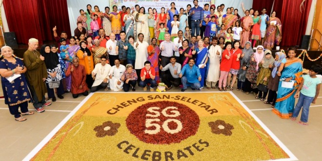 Largest Rangoli Made Of Spices