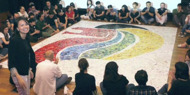 Largest Collage Made By Pieces Of Torn Paper