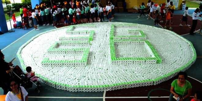 Largest Logo Made By Toilet Rolls