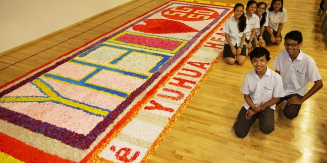 Largest Logo Made Of Straw Hearts