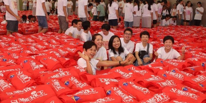 Largest Logo Made Of Grocery Bags