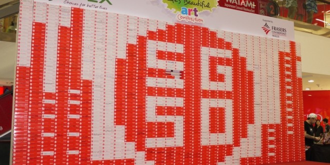 Largest Logo Made Of Tissue Boxes