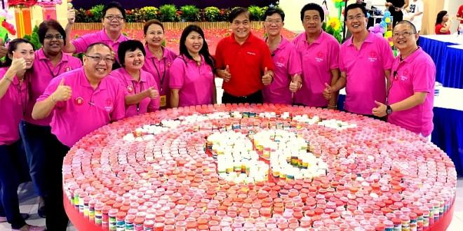 Largest Logo Made Of Push Cakes