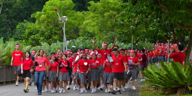 Largest Mass Walk Wearing A Bandana