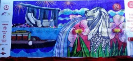 Largest Mosaic Made Of Cultured Milk Bottles
