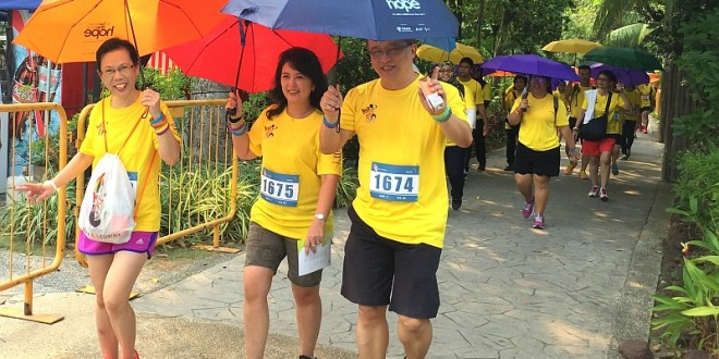Largest Mass Walk With Umbrellas