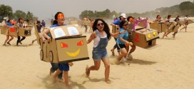Largest Wearable Cardboard Box Race