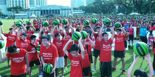 Most Number Of People Bouncing Basketballs Together