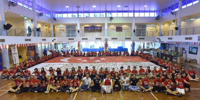 Largest National Flag Made Of Canned Food