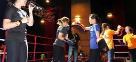 Largest Kickboxing Pad Work Session