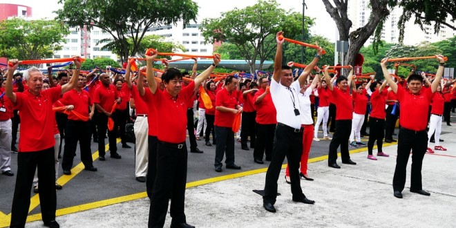 Most Number Of People Exercising With Resistance Bands