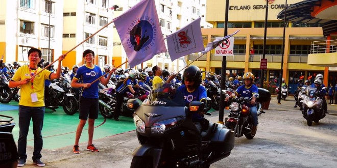 Largest Convoy Of Motorbikes Delivering Groceries For Charity