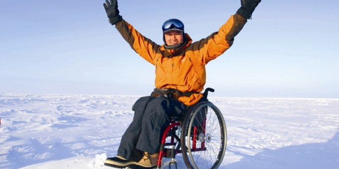 World's First Wheelchair Marathoner In The North Pole