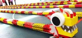 Longest Dragon Sculpture Made Of Egg Trays