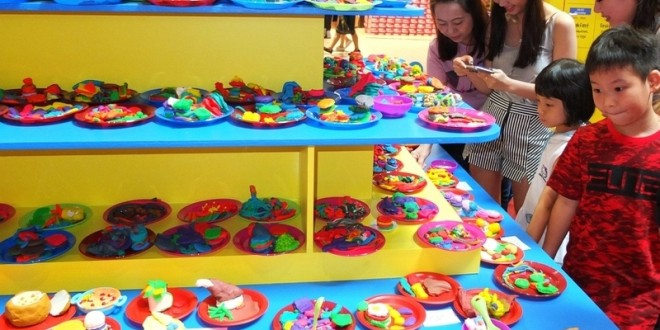 Largest Display Of Food Made From Modelling Clay