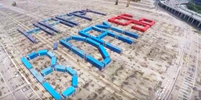 Largest Word Formation Made Of Shipping Containers