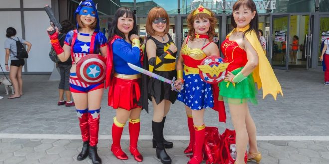Largest Mass Walk In Superhero Costumes
