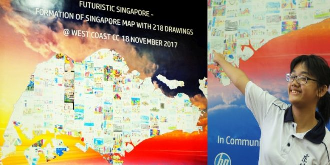 Largest Singapore Map Made Of Individual Drawings