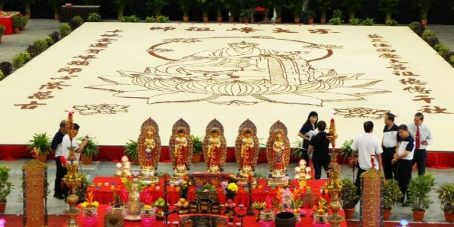 Largest Rice Art Display