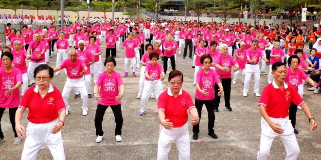 Largest Mass Exercise By Octogenarians