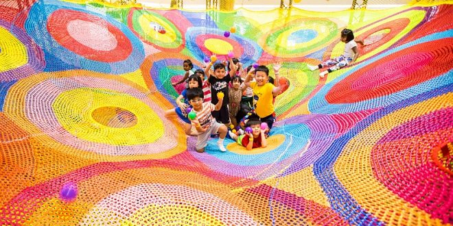 Largest Crochet Rope Playground
