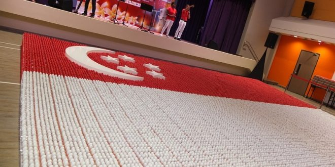 Largest National Flag Made Of Eggs