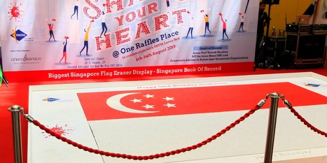 Largest National Flag Made Of Erasers
