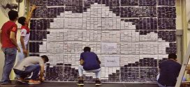 Largest Singapore Map Made Of Paper Bricks