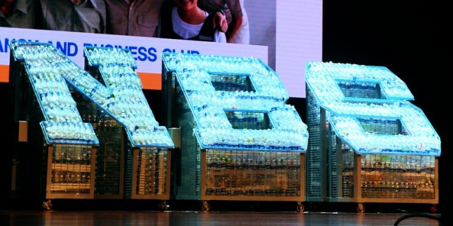Largest Logo Made Of Lighted Plastic Bottles
