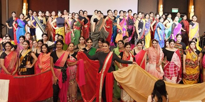 Most Saree Styles In A Fashion Show
