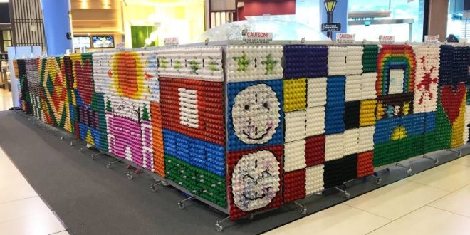 Largest Egg Carton Art Display
