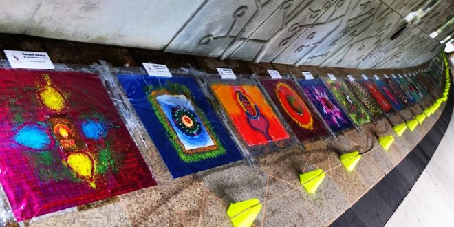 Largest Display Of Rangolis Using Different Materials
